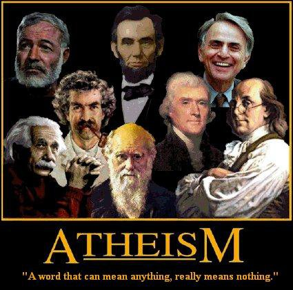 "Atheism - ""A word that can mean anything, really means nothing."""